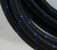 Load image into Gallery viewer, PTFE lined Black Nylon with Blue Check braided hose - AN6, AN8, AN10 - Hot Rod fuel hose by One Guy Garage