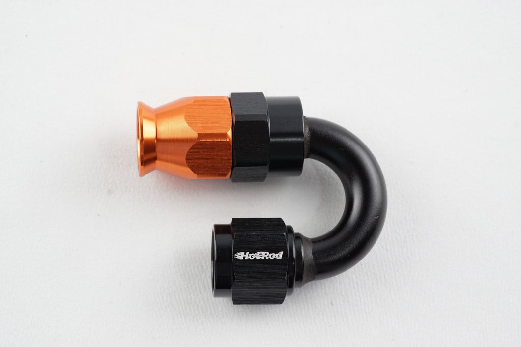 Reusable 180 degree PTFE swivel hose end - AN6, AN8 - Hot Rod fuel hose by One Guy Garage