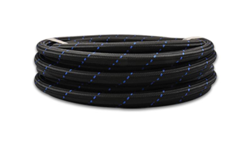 Vibrant -10 AN Two-Tone Black/Blue Nylon Braided Flex Hose (20 foot roll) - Hot Rod fuel hose by One Guy Garage