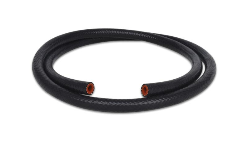 Vibrant 1/2in (13mm) I.D. x 5 ft. Silicon Heater Hose reinforced - Black - Hot Rod fuel hose by One Guy Garage