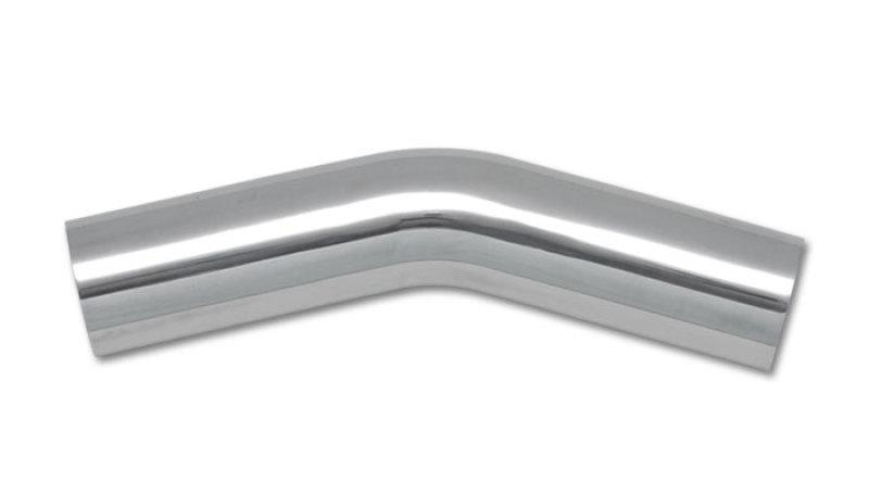 Vibrant 1.5in O.D. Universal Aluminum Tubing (30 degree bend) - Polished - Hot Rod fuel hose by One Guy Garage