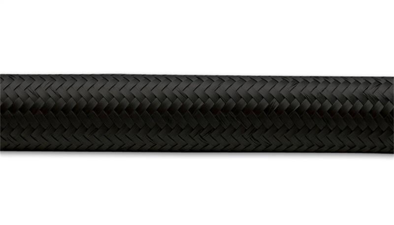 Vibrant -16 AN Black Nylon Braided Flex Hose .89in ID (50 foot roll) - Hot Rod fuel hose by One Guy Garage