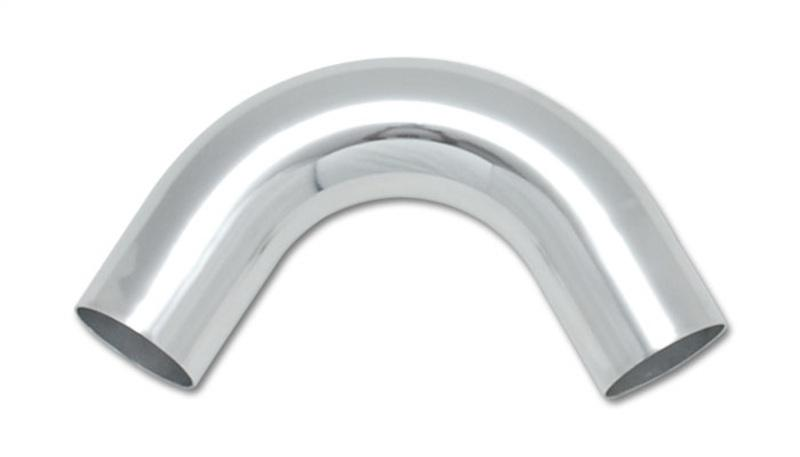 Vibrant 3.5in O.D. Universal Aluminum Tubing (120 degree Bend) - Polished - Hot Rod fuel hose by One Guy Garage