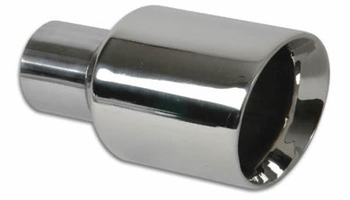 Vibrant 3.5in Round SS Exhaust Tip (Double Wall Angle Cut Beveled Outlet) - Hot Rod fuel hose by One Guy Garage