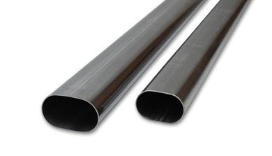 Vibrant 3in Oval (Nominal Size) T304 SS Straight Tubing (16 ga) - 5 foot length - Hot Rod fuel hose by One Guy Garage