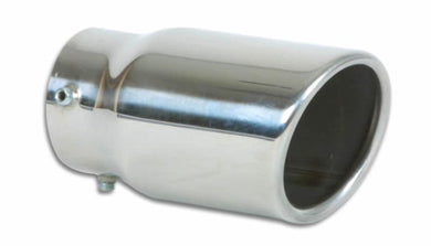 Vibrant 3in Round SS Bolt-On Exhaust Tip (Single Wall Angle Cut Rolled Edge) - Hot Rod fuel hose by One Guy Garage