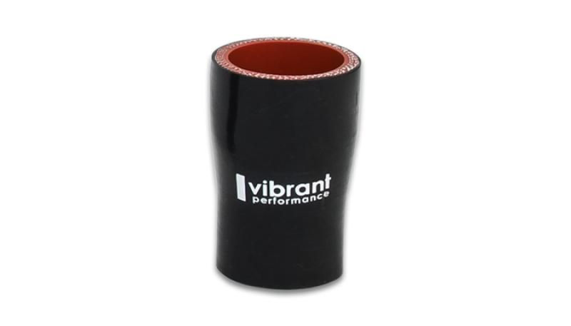 Vibrant 4 Ply Aramid Reducer Coupling 2.5in I.D. x 4in I.D. - Gloss Black - Hot Rod fuel hose by One Guy Garage
