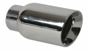 Vibrant 4in Round SS Exhaust Tip (Double Wall Angle Cut Beveled Outlet) - Hot Rod fuel hose by One Guy Garage