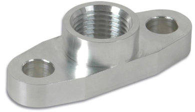Vibrant Billet Aluminum Oil Drain Flange (T3 T3/T4 and T04) - tapped 1/2in NPT - Hot Rod fuel hose by One Guy Garage