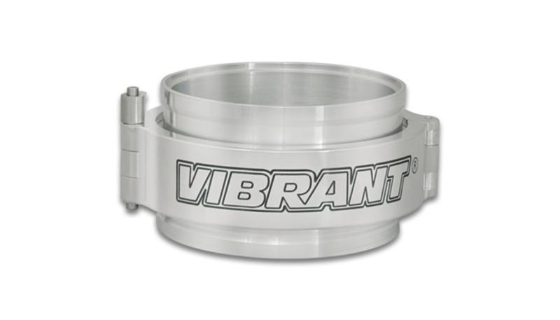 Vibrant HD Clamp Full Assembly for 3.5in OD Tubing - Polished Clamp - Hot Rod fuel hose by One Guy Garage