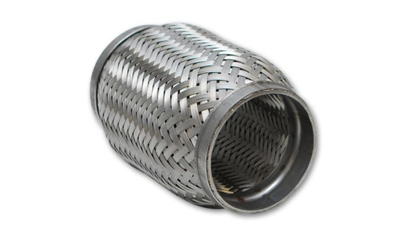 Vibrant SS Flex Coupling with Inner Braid Liner 2in inlet/outlet x 4in flex length - Hot Rod fuel hose by One Guy Garage