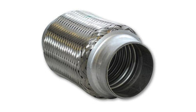 Vibrant SS Flex Coupling without Inner Liner 1.5in inlet/outlet x 4in long - Hot Rod fuel hose by One Guy Garage