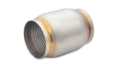 Vibrant SS Race Muffler 3in inlet/outlet x 5in long - Hot Rod fuel hose by One Guy Garage