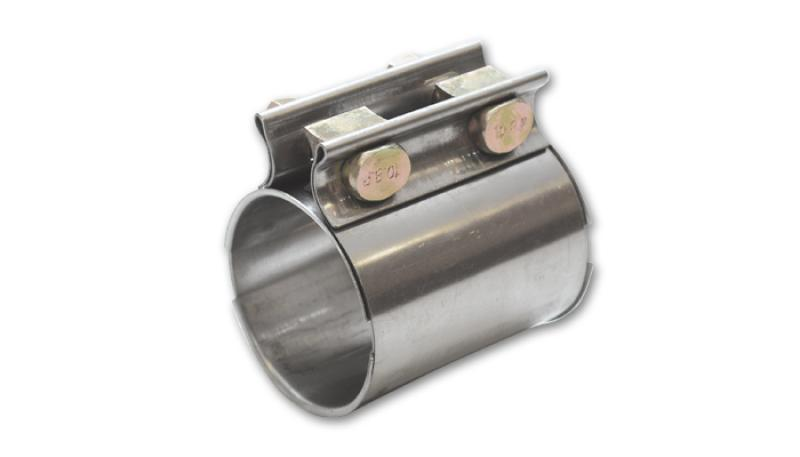 Vibrant TC Series Heavy Duty SS Exhaust Sleeve Butt Joint Clamp for 3.5in O.D. Tubing - Hot Rod fuel hose by One Guy Garage