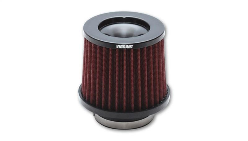 Vibrant The Classic Performance Air Filter (5.25in O.D. Cone x 5in Tall x 4.5in inlet I.D.) - Hot Rod fuel hose by One Guy Garage