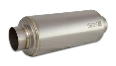 Vibrant Titanium Resonator 3in. Inlet / 3in. Outlet x 16in. Long - Hot Rod fuel hose by One Guy Garage