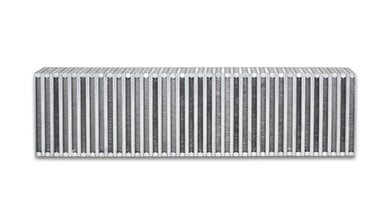 Vibrant Vertical Flow Intercooler Core 24in. W x 6in. H x 3.5in. Thick - Hot Rod fuel hose by One Guy Garage