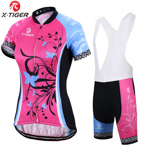 X-Tiger Adina Short Sleeve Breathable Women Cycling Jersey Set