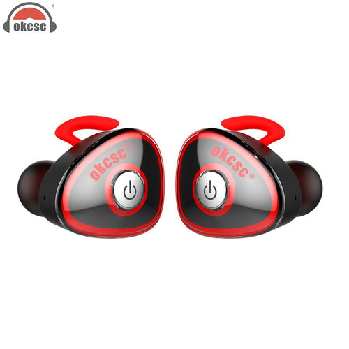 OKCSC HC-S0362 True Wireless Sport Bluetooth Earphone Stereo Twins In Ear Earbuds Sports with Microphone