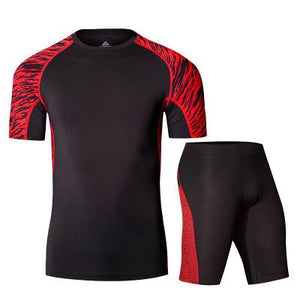LIDONG Men's Short Sleeved Compression Underwear Running Sets.
