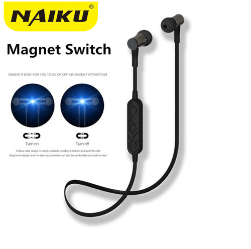 New NAIKU HT3 Wireless Headphone Bluetooth Earphone Magnetic switch For Phone Neckband