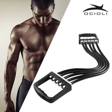 Portable Indoor sports Supply Chest Expander Puller Exercise Fitness Resistance Elastic Cable Rope Tube Yoga 5 Resistance Bands