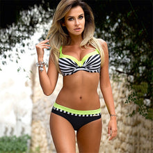 YICN Sexy Brazilian Push Up Print Bikini Set