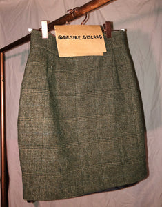 Warm Grey Plaid Skirt