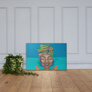 """Ms.Serene"" Canvas"