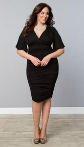 Surplice  Rouched  Midi