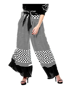 Dots and Stripes Wide Leg Pant