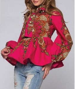 Dashiki Peplum Top