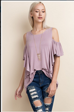Ruffle Cold Shoulder