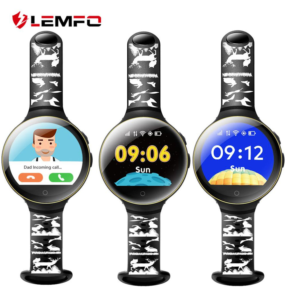 LEMFO Smart watch kids watches with sim card slot gps russian smartwatch smart baby watch for children Call Finder Locator - Expressdeal.net