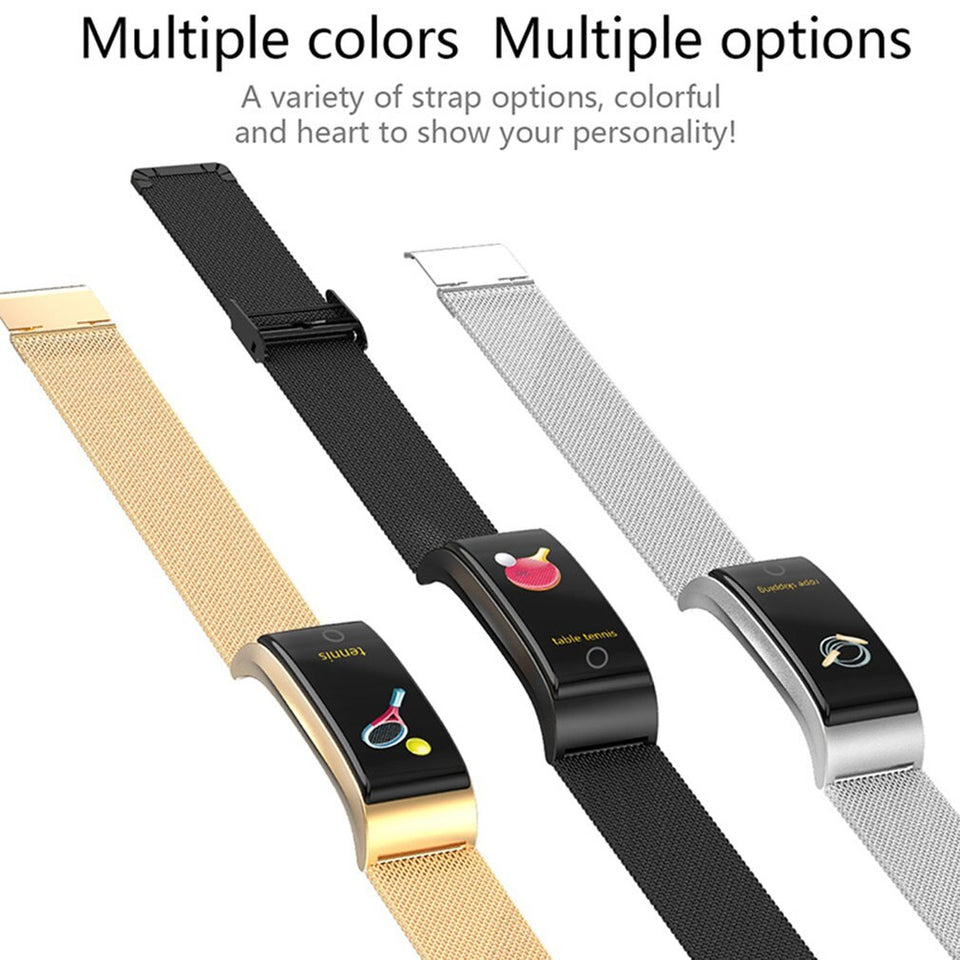 F4 Metal Smart Band Wristband Blood Pressure/Fitness/ Heart Rate Monitor - Expressdeal.net