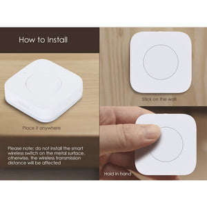 Xiaomi Mijia Aqara Smart Wireless Schalter Smart Remote One Key Control Aqara Intelligente Anwendung Home Security APP Control - Expressdeal.net