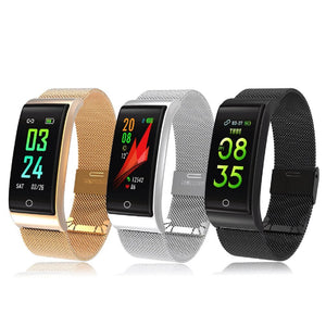 F4 Metal Smart Band Wristband Blood Pressure/Fitness/ Heart Rate Monitor
