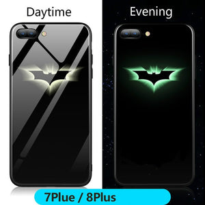 Marvel Batman Superman Spiderman Luminous Glass Case For iphone 7 8 6 6s Plus X Xs Max Xr Avengers Black Panther iron Man Cover - Batman / For iPhone 6 6s - Batman / For 6plus 6splus - Batman / For iPhone 7 - Batman / For iPhone 7 plus - Batman / For iPhone 8 - Batman / For iPhone 8 plus - Batman / For iPhone X - Batman / For iphone Xs - Batman / For iphone Xs Max - Batman / For iphone Xr