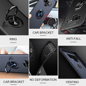 Luxury Bracket Ring Shockproof Case For Samsung Galaxy S8 S9 PLus Full Cover For Samsung Note 8 9 TPU Soft Silicone Holder Cases - Expressdeal.net
