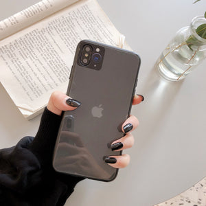 iPhoneXS XR Seconds Change Apple 11pro Tempered Glass 7/8 Soft Plastic Edge Anti-fall 6S Mobile Phone Case - Expressdeal.net