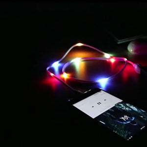 New Fancy Glowing with Music Beat Charging Cable for Android/Type-C - Expressdeal.net