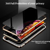 Privacy Magnetische Gehard Glas Case voor iPhone X XS MAX 8 7 Plus - Expressdeal.net