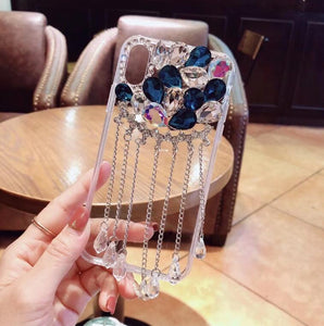 Glitter Pendant Phone Cases For iPhone Xs Max Back Cover Bling Rhinestone Case For iPhone 5s 6 6s Plus 7 8 Plus - Expressdeal.net