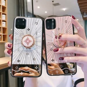 For Iphone 11 Case Luxury Diamond With Ring Stand Gold protective back cover case for iphone 11 Pro Max iphone11 11Pro