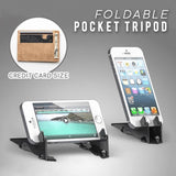 Adjustable Portable Mini Mobile Phone Holder Foldable Stabilize Rotation Pocket Universal Card Type Stable Desk Stand - Expressdeal.net
