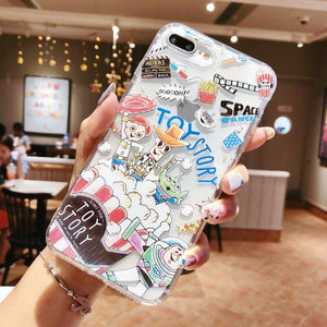 Doodle Graffiti Scribble Minnie Mickey Mouse Cartoon Clear Soft TPU Cover Case For iPhone XS Max XR X 6 6S 7 8 Plus - Expressdeal.net