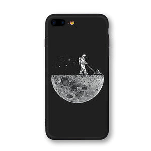 Newest Space Moon Astronaut Phone Cases For iphone 7 8 X Case - Expressdeal.net