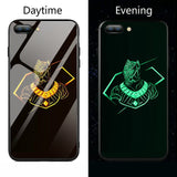 Marvel Batman Superman Spiderman Luminous Glass Case For iphone 7 8 6 6s Plus X Xs Max Xr Avengers Black Panther iron Man Cover - Golden panther / For iPhone 6 6s - Golden panther / For 6plus 6splus - Golden panther / For iPhone 7 - Golden panther / For iPhone 7 plus - Golden panther / For iPhone 8 - Golden panther / For iPhone 8 plus - Golden panther / For iPhone X - Golden panther / For iphone Xs - Golden panther / For iphone Xs Max - Golden panther / For iphone Xr