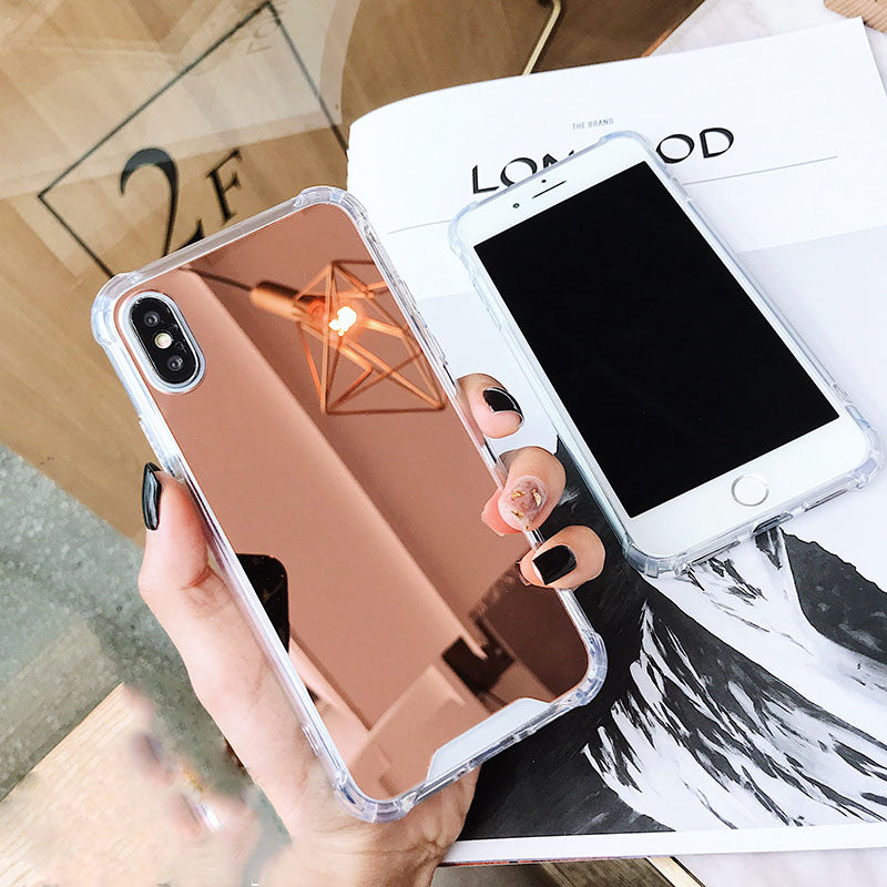 Luxury Plating Mirror Phone Case Cover For iPhone 7 Case Silicon For iPhone 6 6S 8 Plus X 10 XR XS XS Max Case Coque - Expressdeal.net