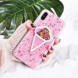 3D Dynamic Ice Cream Phone Case For iphone X Case Fashion Glitter Bling Back Cover Lovely Cartoon Cases For iphoneX Capa - Expressdeal.net